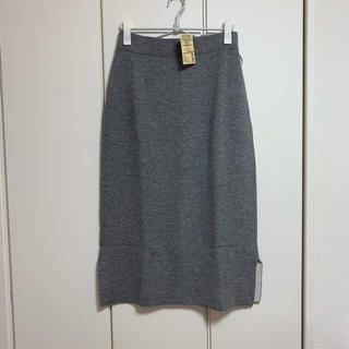 ムジルシリョウヒン(MUJI (無印良品))の無印良品 MUJI ロングスカート  グレー レディース Lサイズ(ロングスカート)
