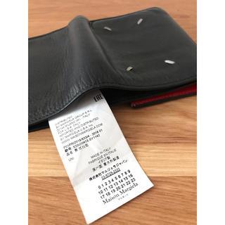 Maison Martin Margiela - 18AW メゾンマルジェラ レザー 財布 ミニウォレット 黒 赤 三つ折り