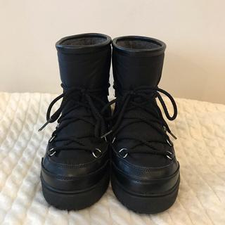 モンクレール(MONCLER)のモンクレール MONCLER ブーツ 黒 37(ブーツ)
