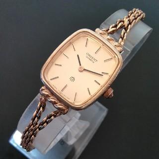 オリエント(ORIENT)のオリエント 腕時計 レディース 電池交換 ゴールド色 動作品 (416)(腕時計)