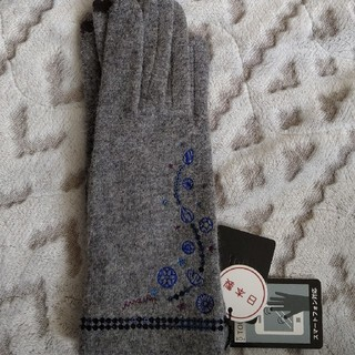 アナスイ(ANNA SUI)の☆新品☆アナスイ手袋(グレー)(手袋)