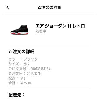 NIKE - ジョーダン11 bred