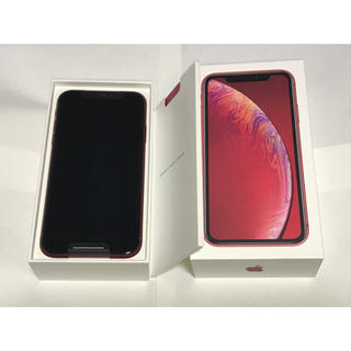【新品未使用】iPhoneXR 128GB レッド PRODUCT SIMフリー