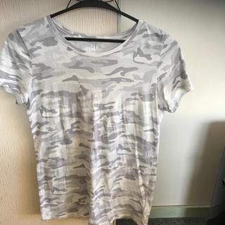 ギャップ(GAP)のgap 迷柄 グレーTシャツ(Tシャツ(半袖/袖なし))