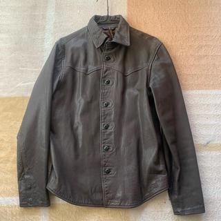 ヌーディジーンズ(Nudie Jeans)のヌーディージーンズ  ブラウンレザーシャツ(レザージャケット)
