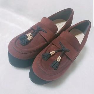 エスペランサ(ESPERANZA)のエスペランサ ベアロ素材 ローファー 厚底(ローファー/革靴)