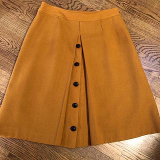スカート  セーヌドゥー  黄色  L (ひざ丈スカート)