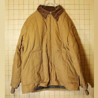 Walls ライトブラウン 中綿 ダックジャケット XL キルティングaw129(カバーオール)
