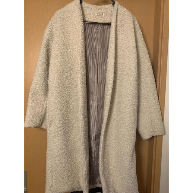 axes femme(アクシーズファム)のボアロングコート レディースのジャケット/アウター(ロングコート)の商品写真