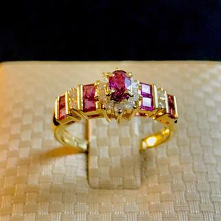 ルビー K18 ダイヤモンドリング(リング(指輪))