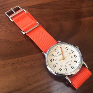 TIMEX - TIMEX 腕時計 indiglo 電池交換済 美品 オレンジ