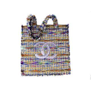シャネル(CHANEL)のシャネル 2018春夏コレクション ココマーク ツイードトートバッグ(トートバッグ)