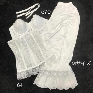 【美品‼︎】セモア ブライダルインナー C70 64 ドロワーズM