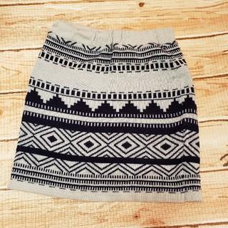 ハートマーケット(Heart Market)のスカート冬服柄物レディースニットスカート(ひざ丈スカート)