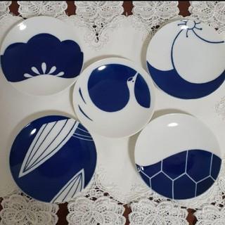タチキチ(たち吉)の吉祥 5枚 皿セット桐箱入り(食器)