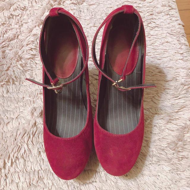 ESPERANZA(エスペランサ)のスエード ボールド ベルトパンプス レディースの靴/シューズ(ハイヒール/パンプス)の商品写真