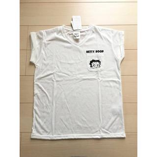Betty Boop ベティー Vネック半袖Tシャツ(Tシャツ(半袖/袖なし))