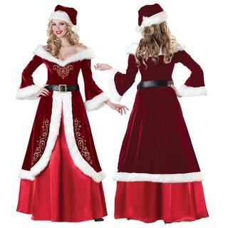 サンタクロース クリスマス コスチューム レディース 3点セット Mサイズ(その他)