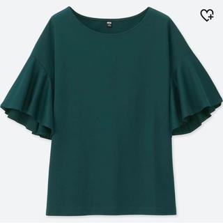 ユニクロ(UNIQLO)のマーセライズコットンフレアスリーブT(Tシャツ(半袖/袖なし))