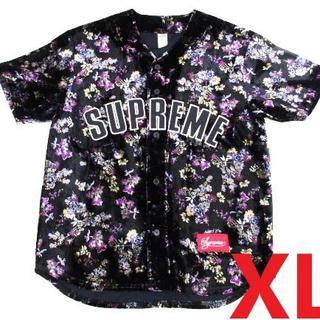 Supreme - Supreme Floral Velour Baseball Jersey XL