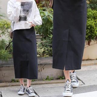Kastane - 【select MOCA】ハイウエストリボンロング丈ペンシルスカート
