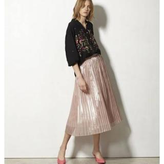 GRACE CONTINENTAL - グレースコンチネンタル シアー箔プリーツスカート