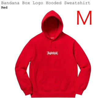 Supreme - Bandana Box Logo Hooded 赤