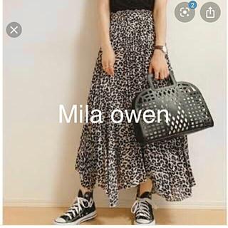 ミラオーウェン(Mila Owen)のMila owen ミラオーウェン エスパンディ レオパード ロングスカート(ロングスカート)