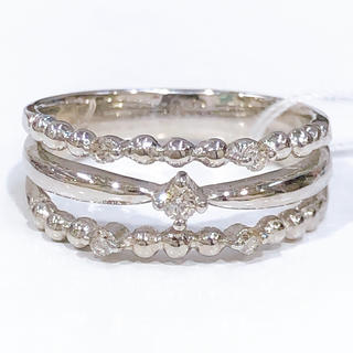 3連風♡K18WG ダイヤモンド リング(リング(指輪))