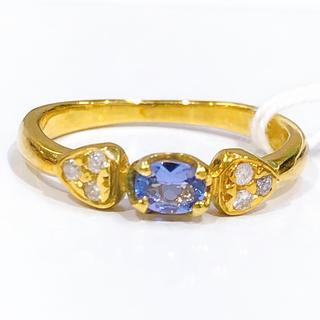 K18YG タンザナイト ダイヤモンド リング(リング(指輪))