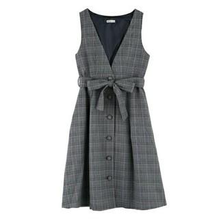 axes femme - 【美品】axes アクシーズ リボン付き ジャンパースカート(ブラック)