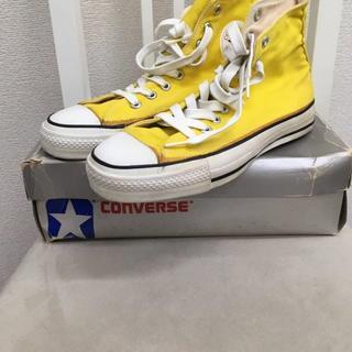 コンバース(CONVERSE)のUSA製 ビンテージ コンバース オールスター サイドステッチ 銀箱 美品(スニーカー)