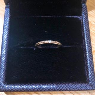 ete - ♡ete K18 ピンクゴールド ダイヤ付きリング 7号♡