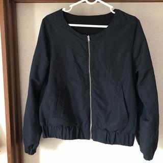 ショコラフィネローブ(chocol raffine robe)の【chocol raffine】リバーシブルジャケット(ブルゾン)