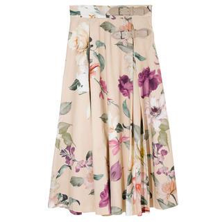 エイミーイストワール(eimy istoire)のeimy❤︎Sophia flower ベルトフレアスカート(ロングスカート)