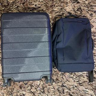 ムジルシリョウヒン(MUJI (無印良品))の無印良品 スーツケースのみ 出張セット ネイビー 36ℓ 美品(スーツケース/キャリーバッグ)