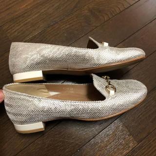 イング(ing)のing フラットパンプス シルバー EE(ローファー/革靴)