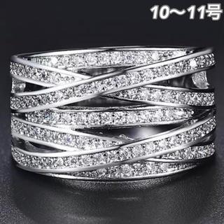 SWAROVSKI - ★定価7580円★【SWAROVSKI】10~11号 クリスタル ジェム 指輪