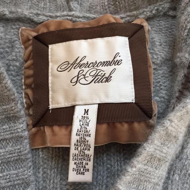Abercrombie&Fitch(アバクロンビーアンドフィッチ)のアバクロ グレー ✨ ニットパーカー レディースのトップス(ニット/セーター)の商品写真