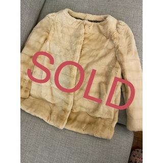ドゥロワー(Drawer)の完売30万新品タグ付ドゥロワー  ファージャケット (毛皮/ファーコート)