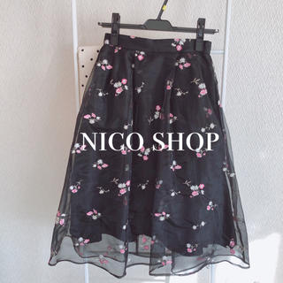 31 Sons de mode - フラワー刺繍スカート