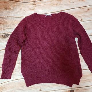イッカ(ikka)のセーター冬服ニットVネックレディース(ニット/セーター)