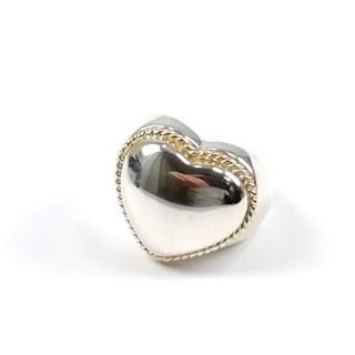ティファニー(Tiffany & Co.)の希少 美品 ヴィンテージ ティファニー コンビ ハート リング CQ42(リング(指輪))
