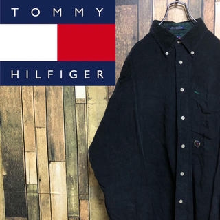 TOMMY HILFIGER - 【激レア】トミーヒルフィガー☆オールド刺繍ロゴ入りコーデュロイシャツ 90s