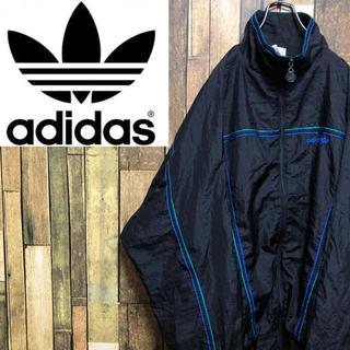 adidas - 【激レア】アディダスオリジナルス☆刺繍ロゴラインデザインナイロンジャケット90s