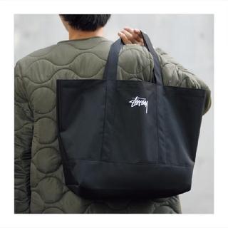 STUSSY - STUSSY ステューシー トートバック ブラック ロゴ刺繍