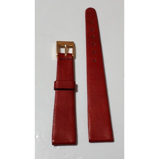 オメガ クォーツ スピードマスター - 商品NO.6♪ラグ幅14mm【新品】ブランド不明♪赤色・皮革腕時計ベルト♪の通販 by tommy06274532's shop