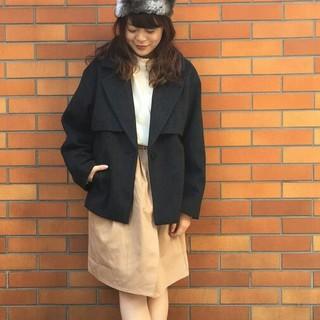 Kastane - 新品タグ付 Kastaneカスタネ★ラップ風スカート★ベージュ