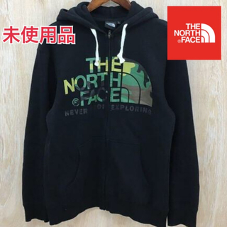 THE NORTH FACE - 未使用品!THE NORTH FACE 裏起毛 カモフラ柄 パーカー