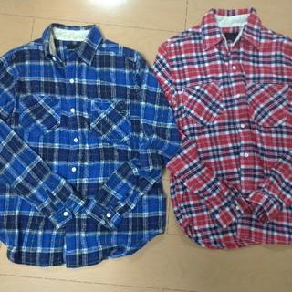 カムコ(camco)のネルシャツ チェックシャツ 2点セット【赤 レッド 青 ブルー アメカジ】(シャツ)